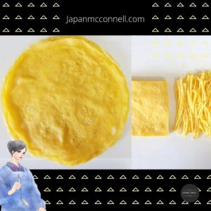Japanese thin egg omelet, Usuyaki tamago, Japanese cooking recipe