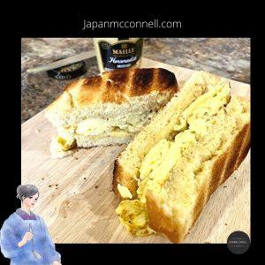 Atsuyakitamago sandwich, sando, Japanese food, Japanese egg omelet sandwich, recipe