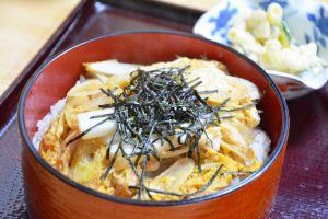 oyakodonburi, chicken and egg on the rice, Japanese food